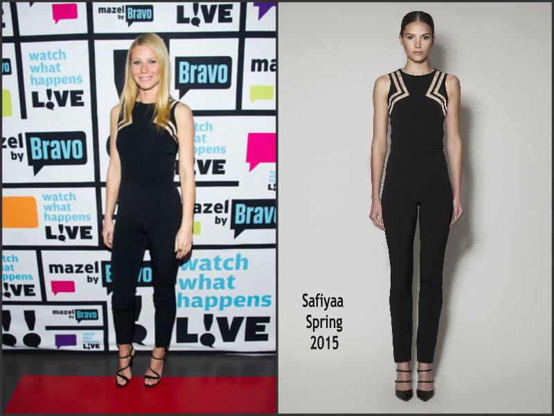 Gwyneth-Paltrow-wears-Safiyaa-Watch-What-Happens-Live