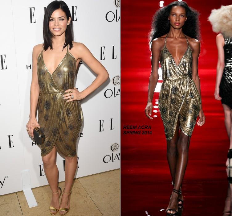 Jenna- Dewan-Tatum -wears- Reem -Acra -at- the -2015 -ELLE- Annual -Women- in -Television -Celebration