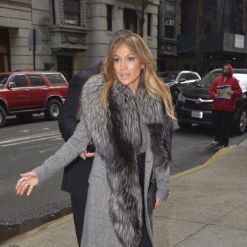 Jennifer-Lopez-kept-warm-in-a-chic-grey-coat-with-fur-accent-upon-leaving-the-Good-Morning-America-Show-in-NYC