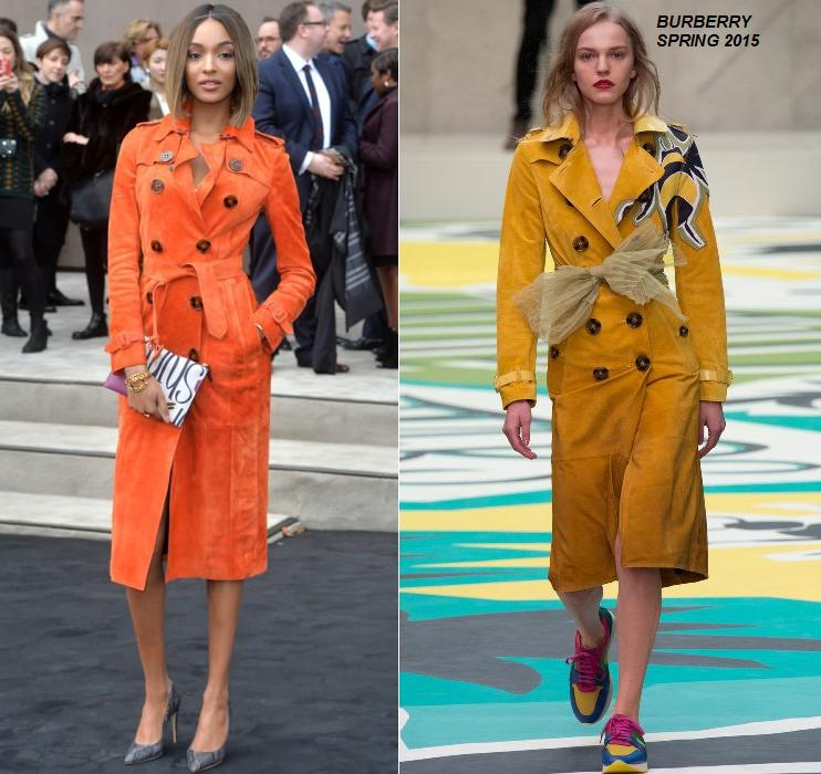 Jourdan- Dunn- wears- Burberry- Prorsum at the Burberry Prorsum -Men- AW15- London -Show
