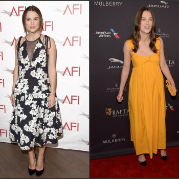 Kiera-Knightley-in-Erdem-Hermes-2015-AFI-Awards-2015-Bafta-Tea-Party
