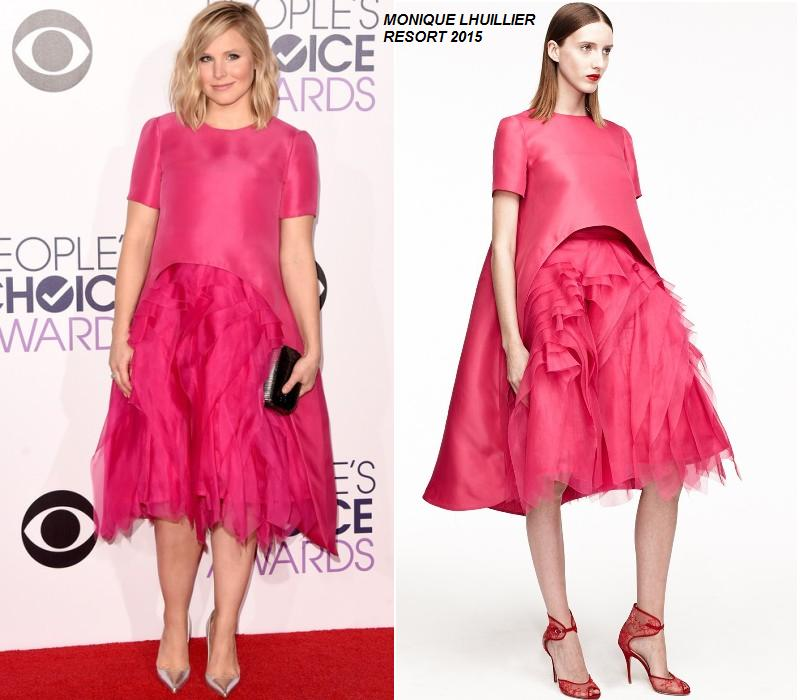 Kristen- Bell-in-MONIQUE- LHUILLIER- peoples-choice-awards-2015