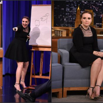 Lena-Dunham-wears-Saint-Laurent-TheTonight-Show-Starring-Jimmy-Fallon