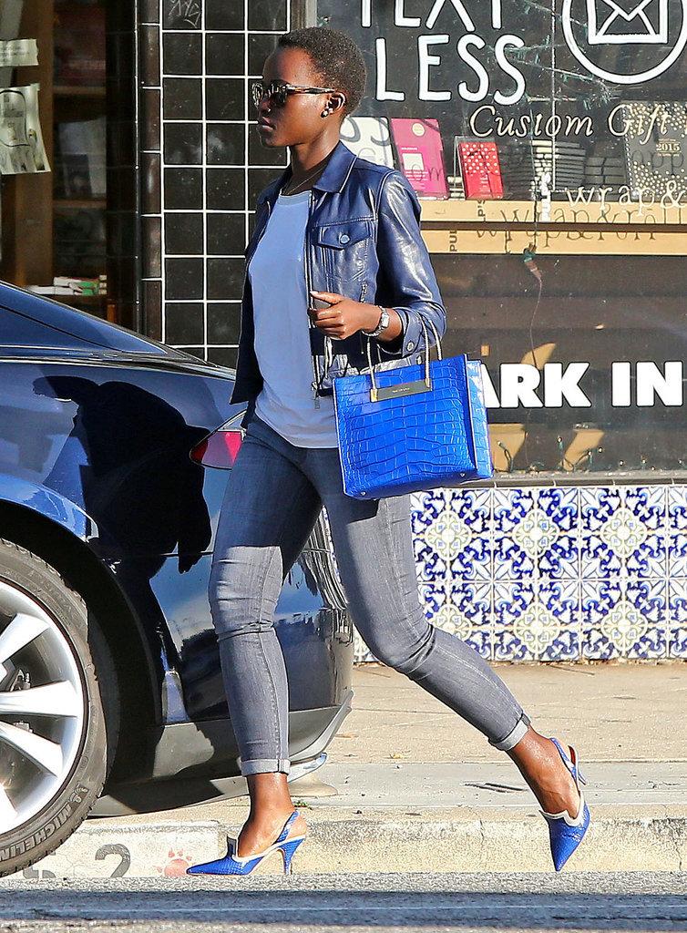 Lupita Nyong'o spotted with Balenciaga 'Cable' Shopper ...