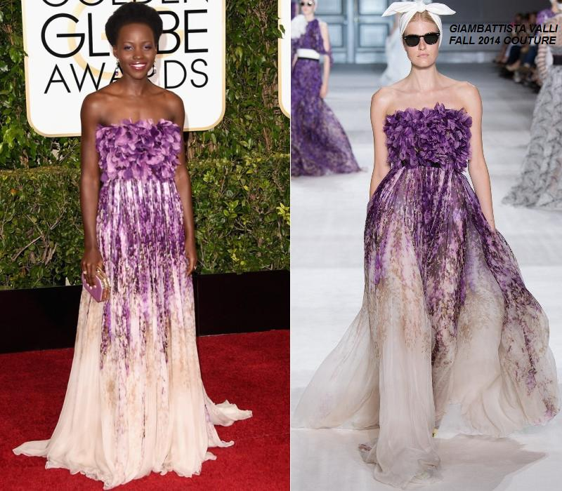 Lupita -Nyong'o- in -Giambattista -Valli- Couture -at -the- 72nd- Annual- Golden- Globes -Awards