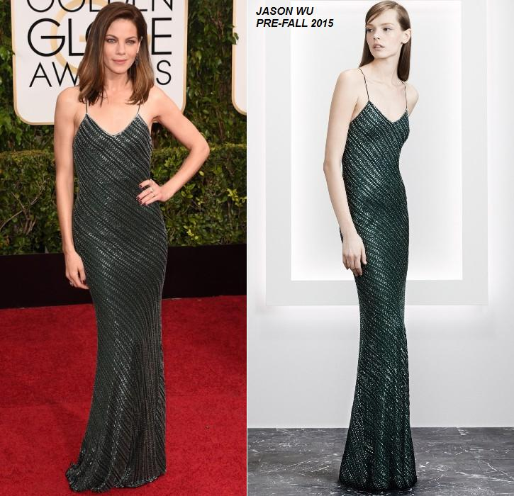 Michelle -Monaghan- wears- Jason -Wu- at -the- 72nd- Annual -Golden- Globe- Awards