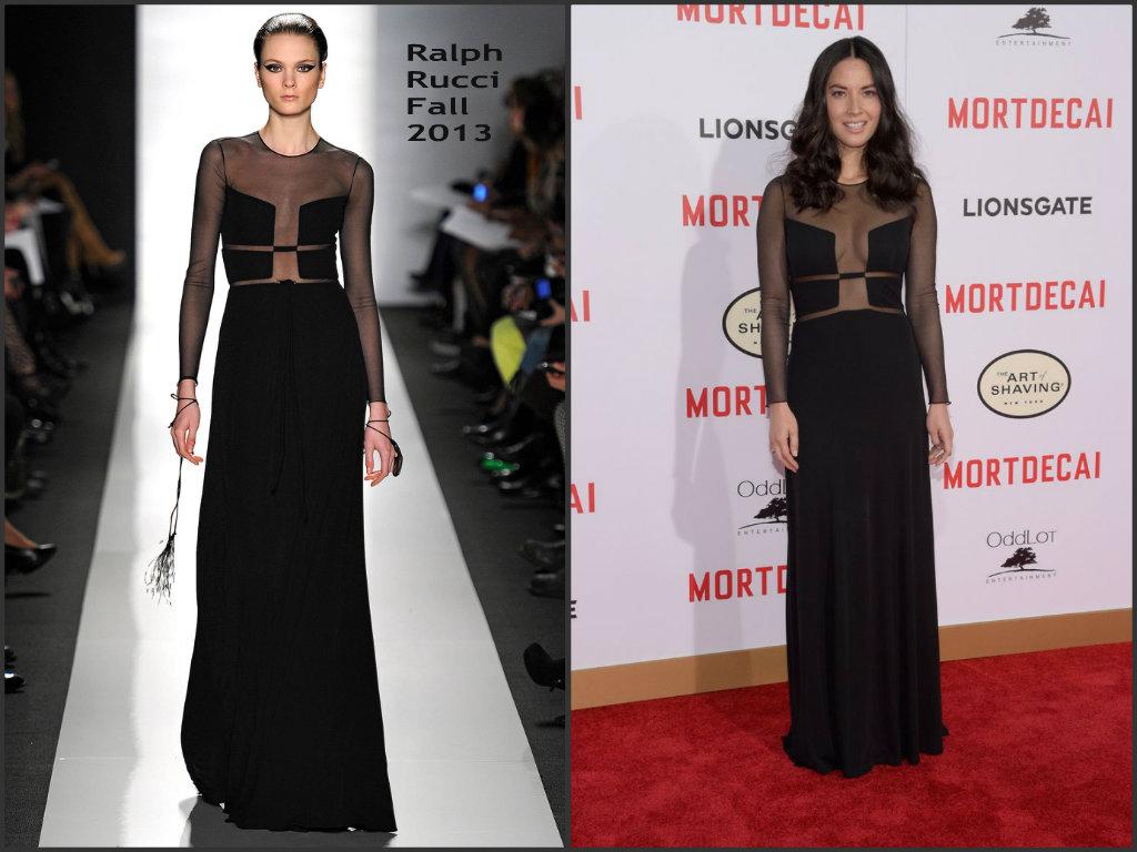 Olivia-Munn- wears-Ralph-Rucci-Mortdecai-LA-Premiere