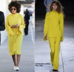 Solange Knowles in Marques'Almeida at LAX Airport