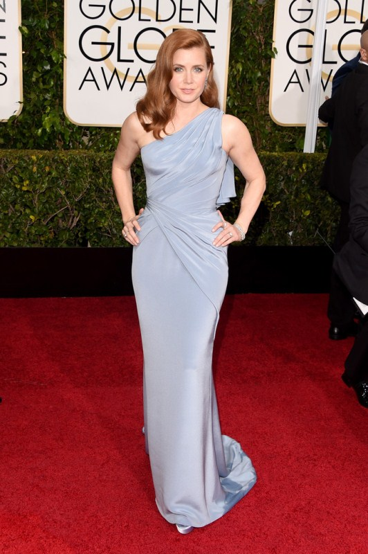 Amy -Adams- in -Versace-at- the- 72nd- Annual- Golden -Globe -Awards