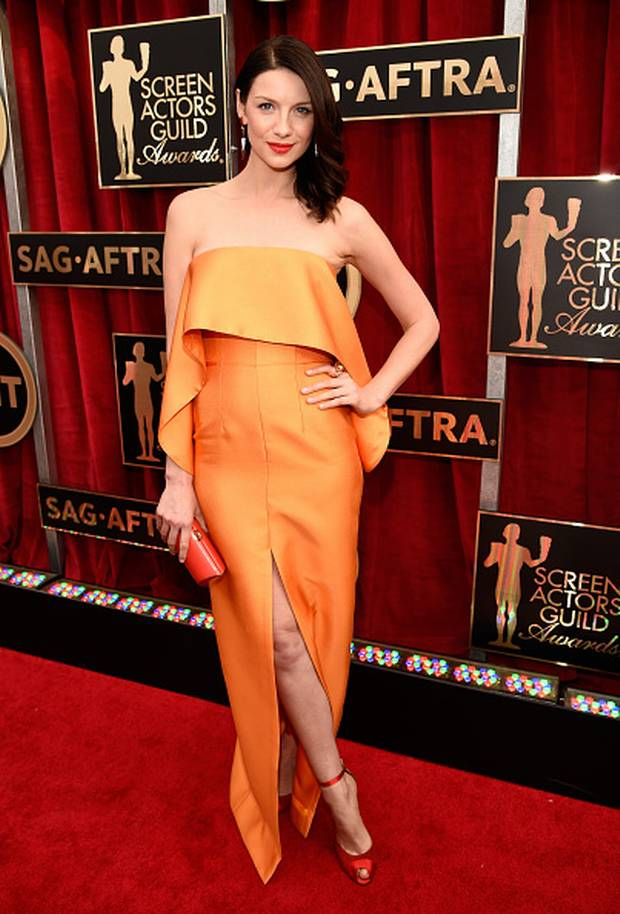 Caitriona -Balfe-in-Solace-London-2015-SAG-AWARDS