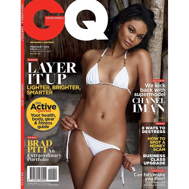 Chanel Iman  graces  GQ South Africa Cover