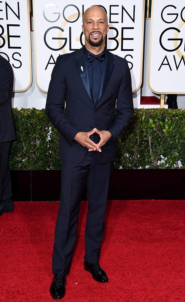Common in a navy blue suit