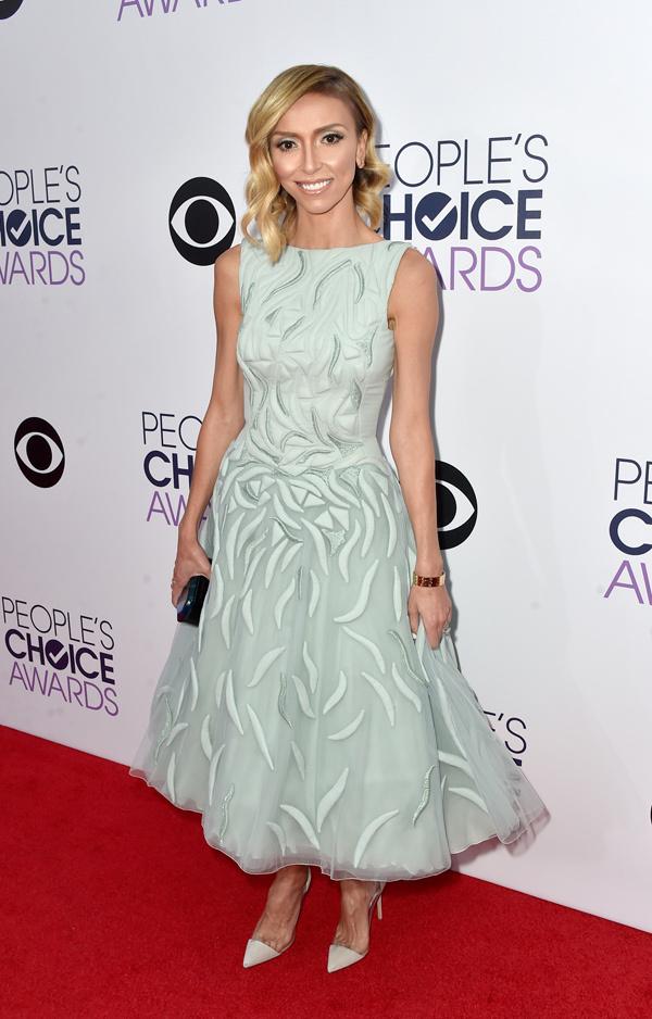Giuliana Rancic in a sleeveless mint green dress