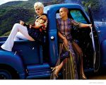 Just Cavalli   Spring 2015 Ads featuring Singer Soko and models