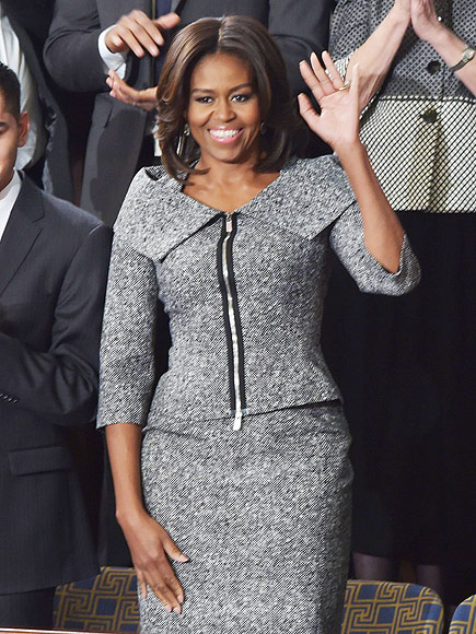 first-lady-michelle-obamas-state-union-address-michael-kors-fall-2013-black-white-jacket-skirt