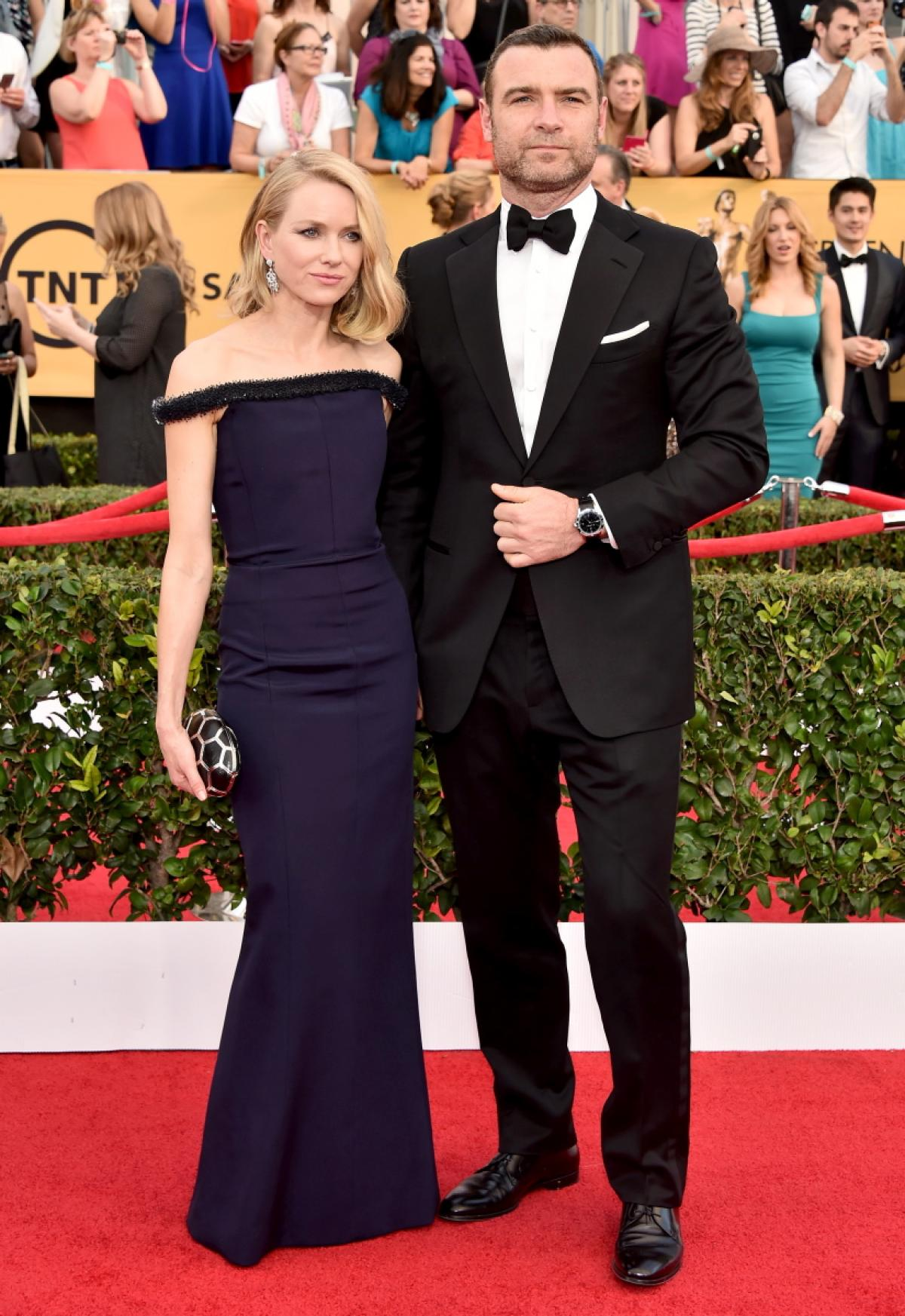 Naomi Watts and Liev Schreiber attend TNT's 21st Annual Screen Actors Guild Awards at The