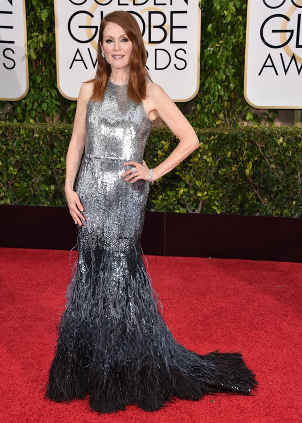 Julianne -Moore -in- Givenchy- Couture -at the 72nd Annual -Golden -Globe- Awards