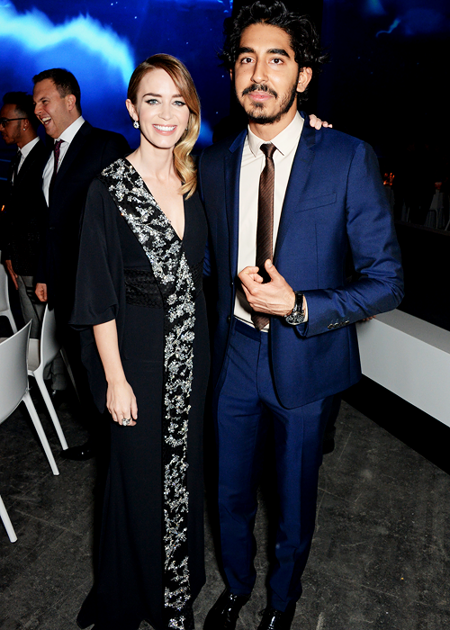 Emily Blunt and Dev Patel