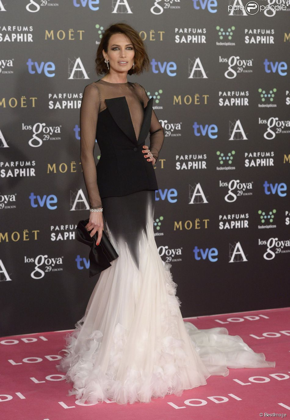 Nieves Alvarez In Stéphane Rolland Couture at the 2015 Goya Awards