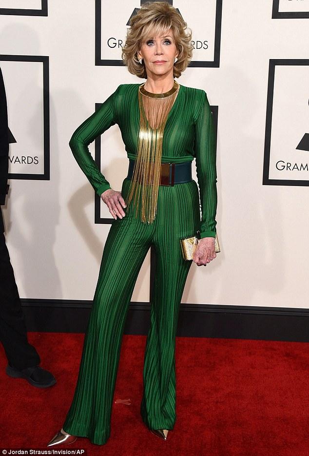 Jane- Fonda -in- Balmain -at -the -2015 -GRAMMY -Awards
