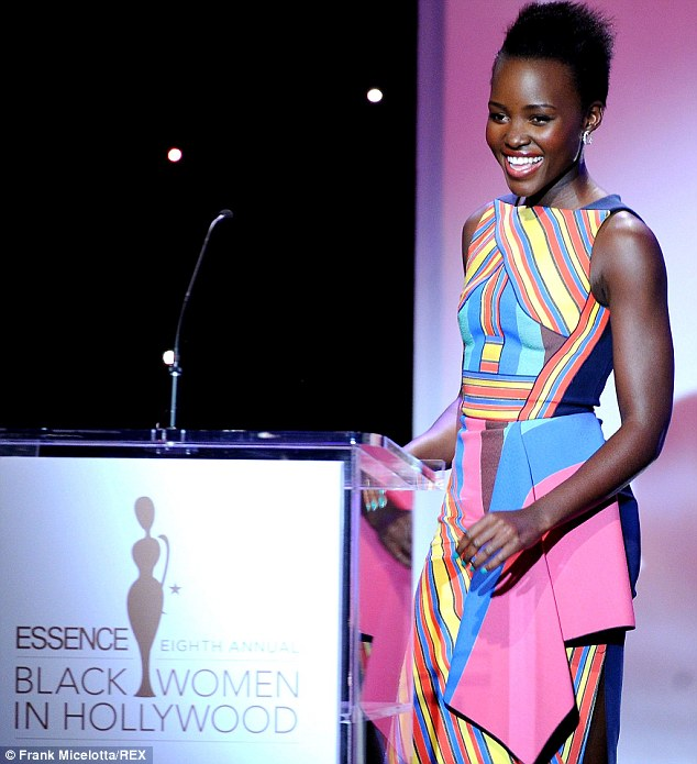 Lupita Nyong'o presented the Visionary Award at the 8th annual