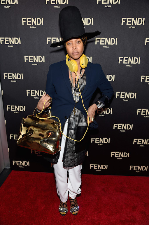 Erykah- Badu-FENDI- Celebrates -The- Opening -Of -The -New -York -Flagship -Store - Cocktails