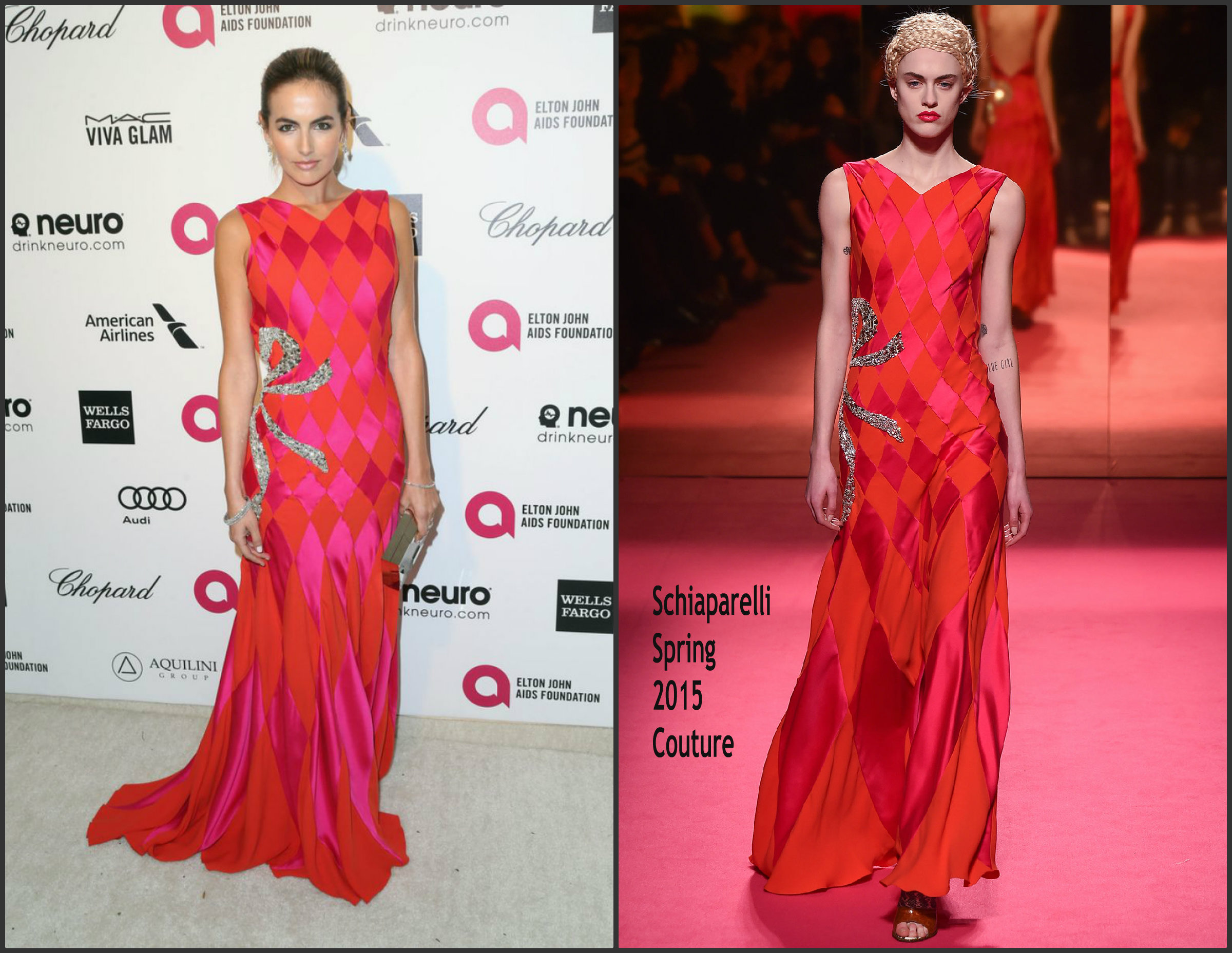 Camilla-Belle-In-Schiaparelli-Couture-at-the-Elton-John's-AIDS-Foundation-Oscars- Viewing -Party