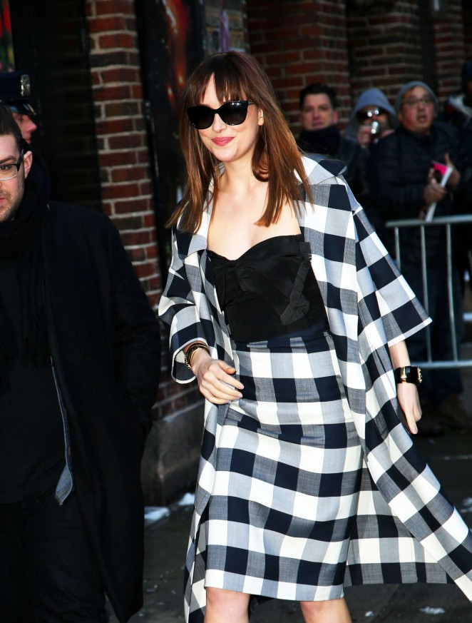 Dakota-Johnson--Arriving-at-The-Late-Show-with-David-Letterman-