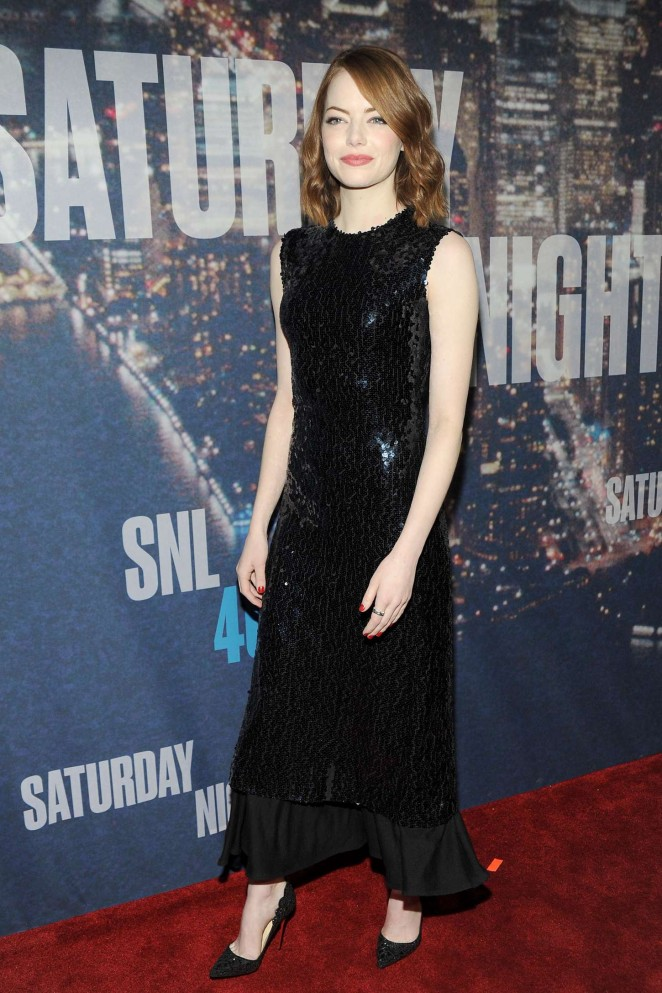 emma-stone-christian-dior- at-snl-40th-anniversary-celebration