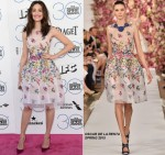 Emmy Rossum In Oscar de la Renta  at the 2015 Film Independent Spirit Awards