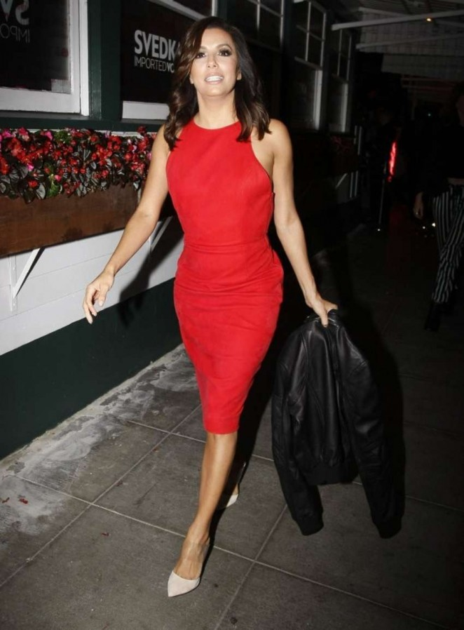 Eva Longoria In Tamara Mellon At The Svedka Vodka Stupid Cupid Soiree West Hollywood