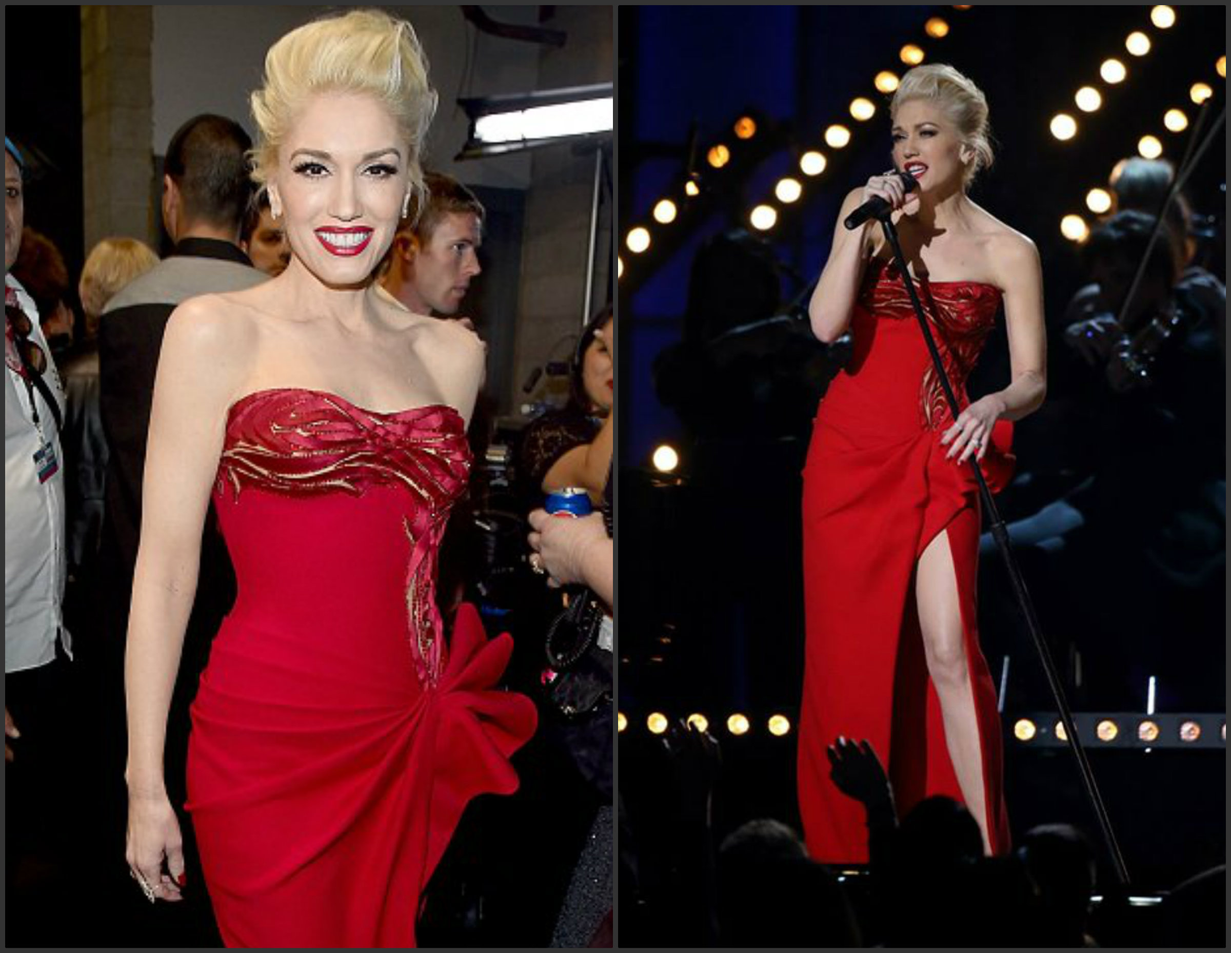Gwen-Stafani-In-Atelier-Versace-at-the-2015-Grammy-Awards