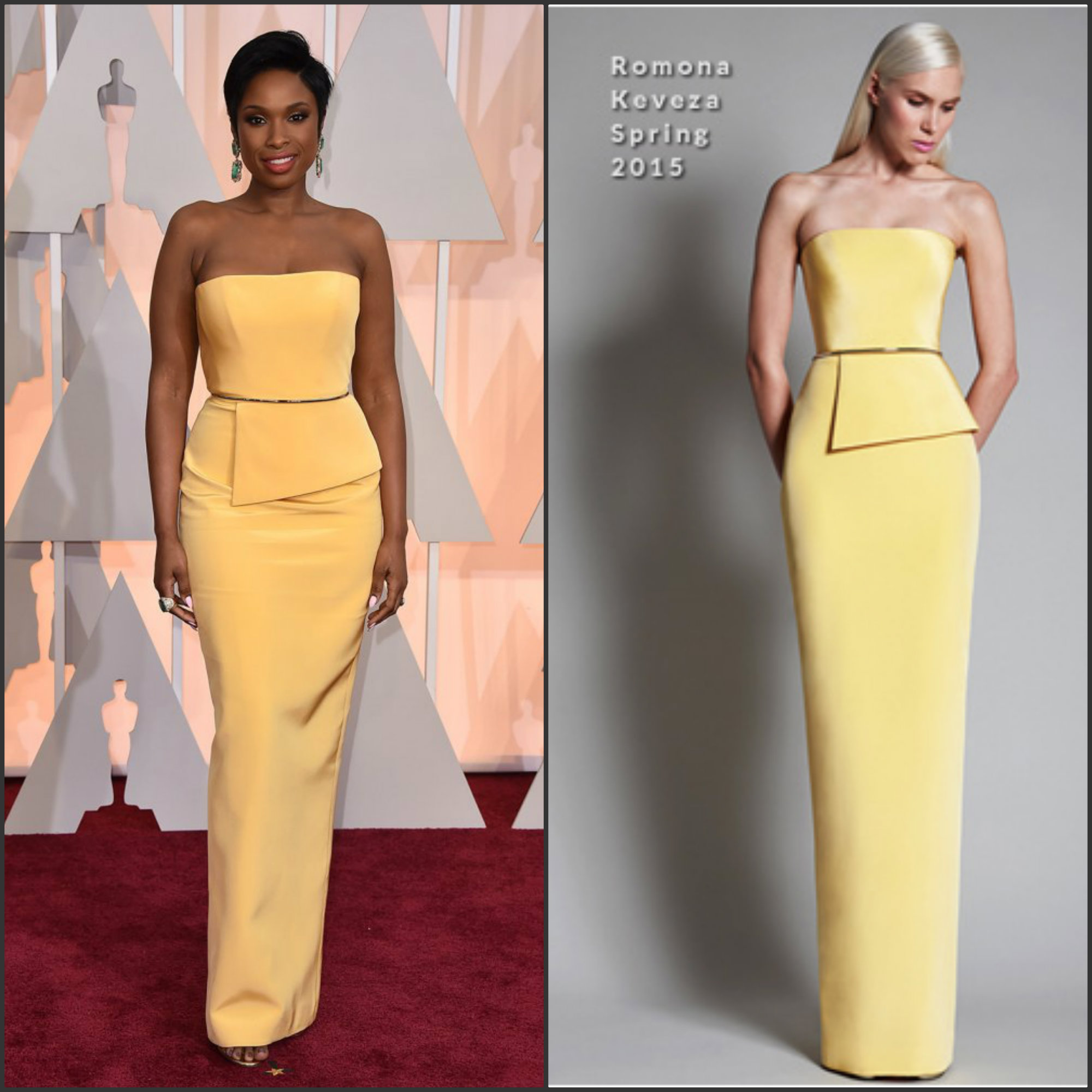 Jennifer-Hudson-in- Romona-Keveza-at-the-2015-Oscars