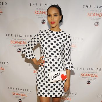 Kerry-Washingtons-The-Limited-Collection-Inspired-By-Scandal-Spring-2015-Launch-Event-Dolce-Gabbana-Polka-Dotted-Black-and-White-Dress