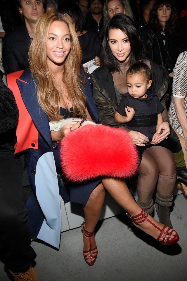 Kim-Kardashian-North-West-Beyonce-at-adidas-Originals-x-Kanye-West-Yeezy-Season-1-NYFW-2015-show