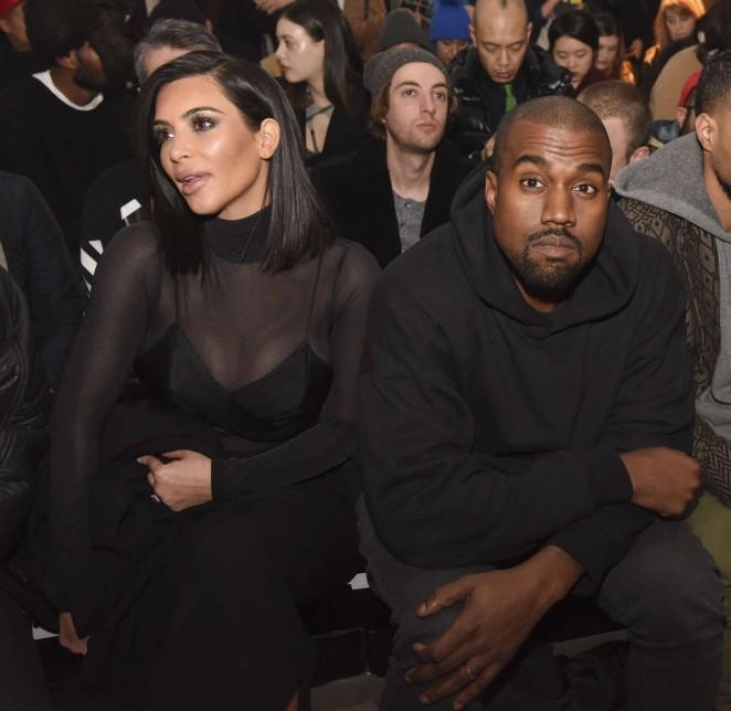 Kim Kardashian and Kanye – Robert Geller Fashion Show in NYC