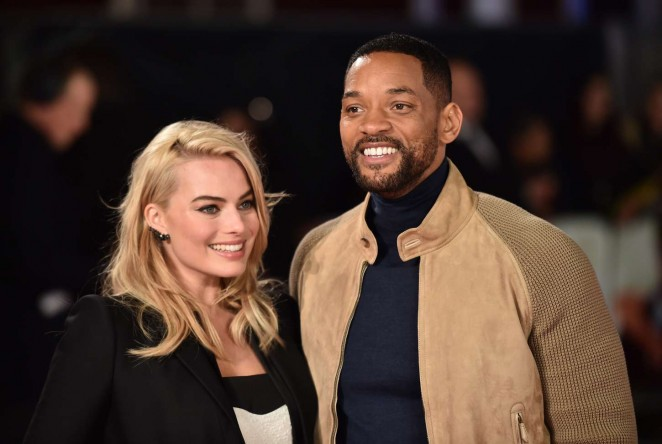 Margot- Robbie and Will Smith