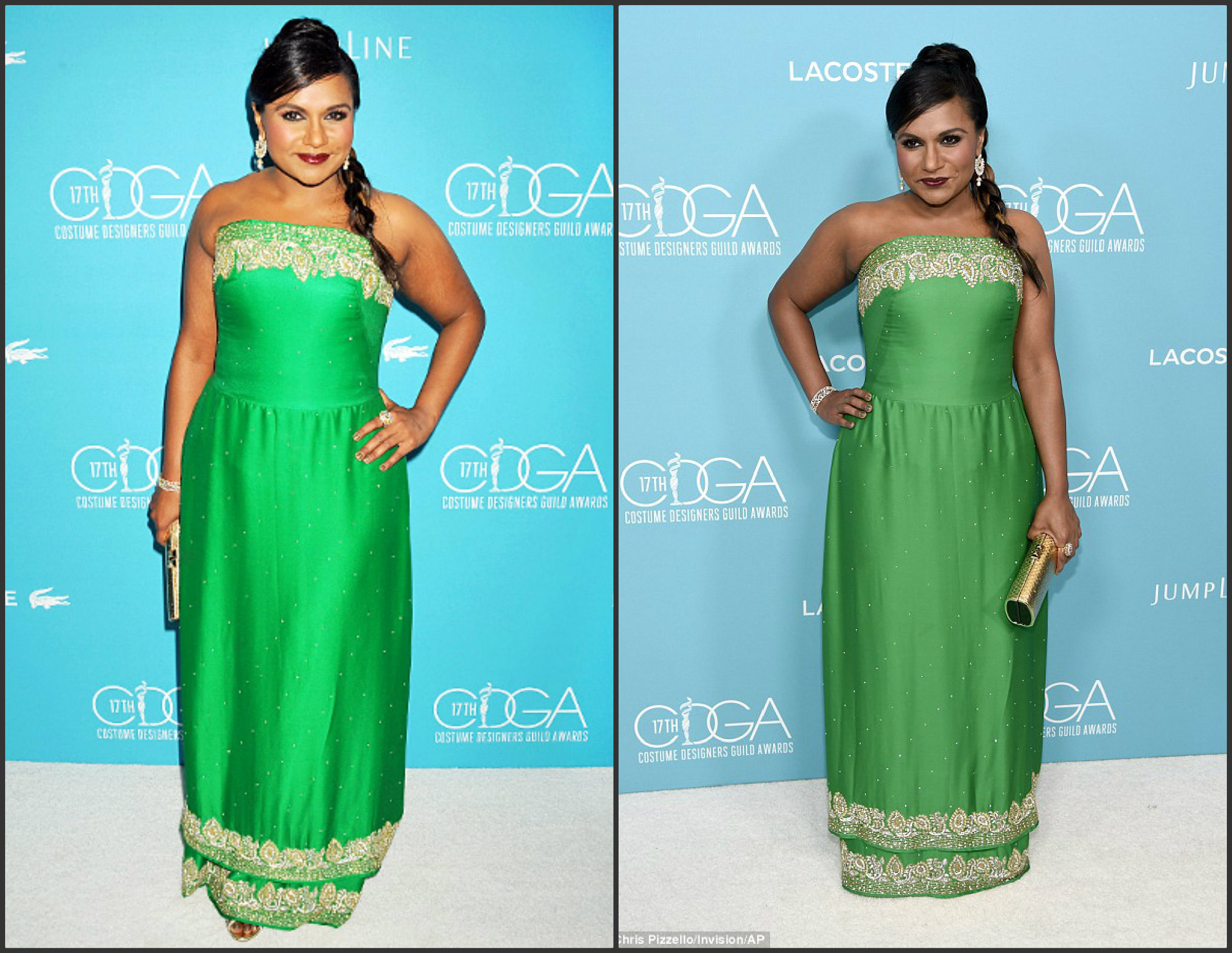 Mindy-Kaling-In-Salvador-Perez-at-the-17th-Costume- Designer-Guild-Awards