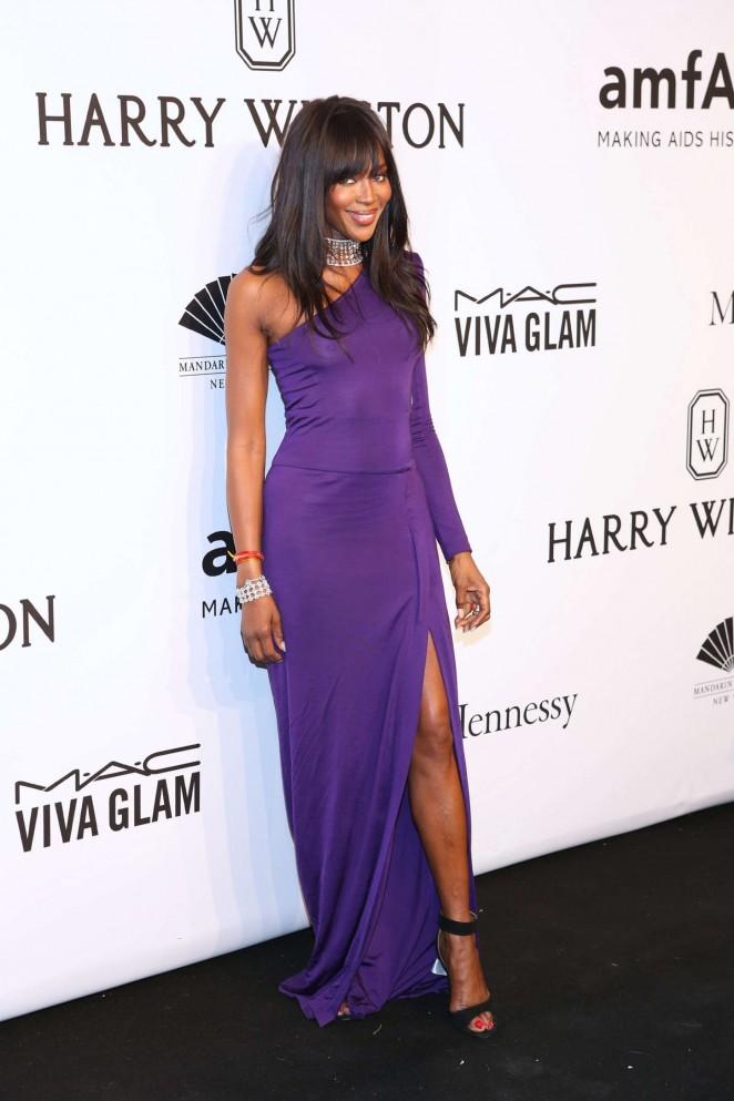 Naomi- Campbell -in -Pucci -at - the 2015 -amfAR- New -York -Gala