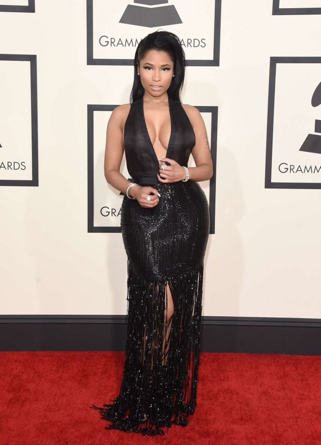 Nicki Minaj In Tom Ford At The 2015 Grammy Awards Fashion Sizzle
