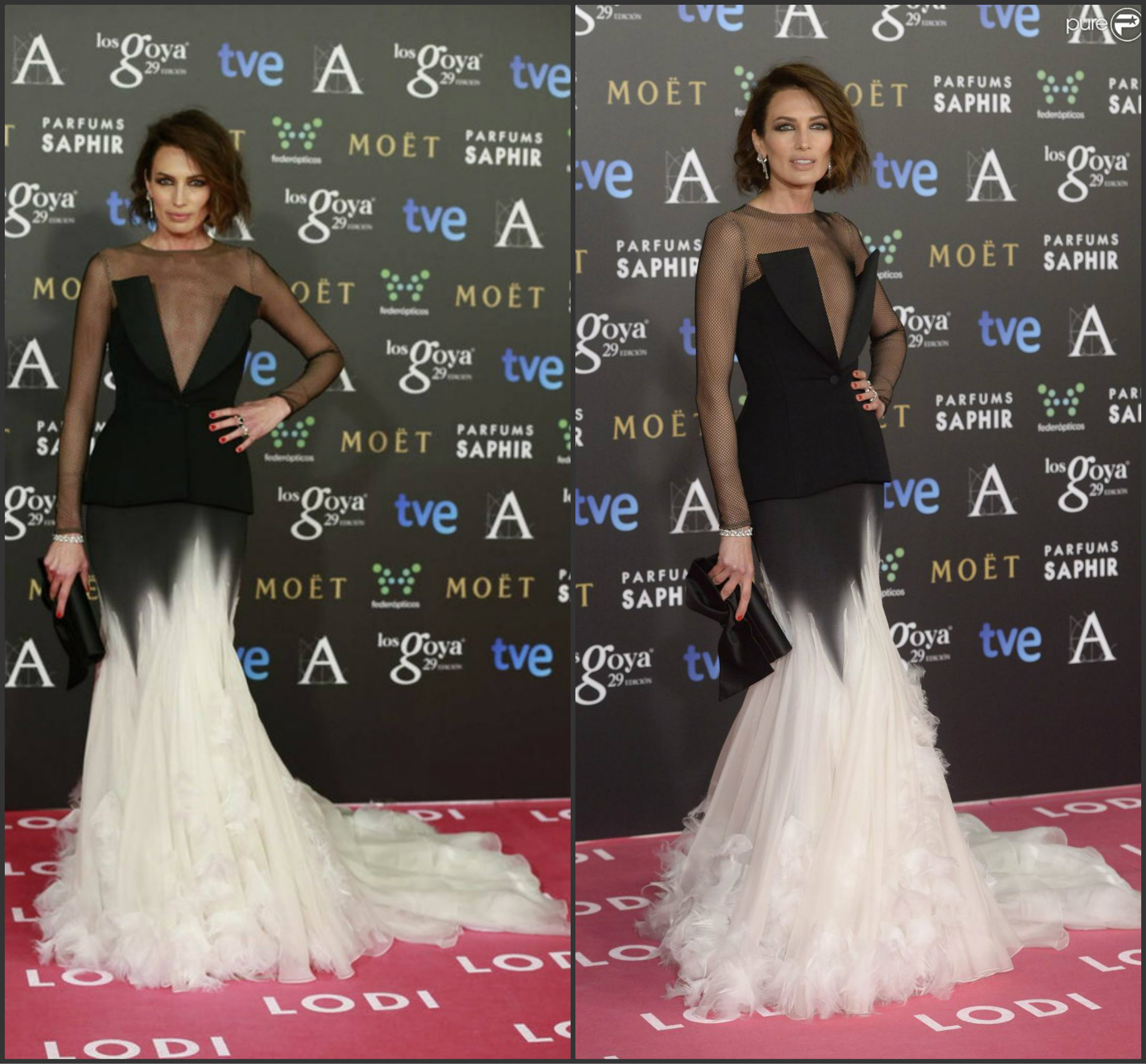 Nieves-Alvarez-In-Stefane-Rolland-Couture-at-the-2015-Goya-Awards