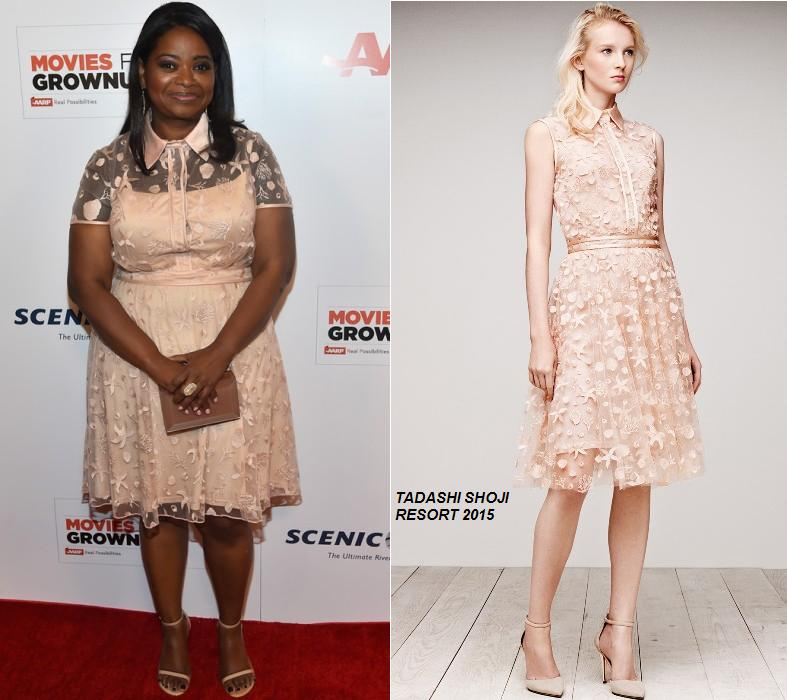 Octavia- Spencer- in -Tadashi -Shoji -at -the -14th- Annual -Movies -for- Grownups- Awards-Gala