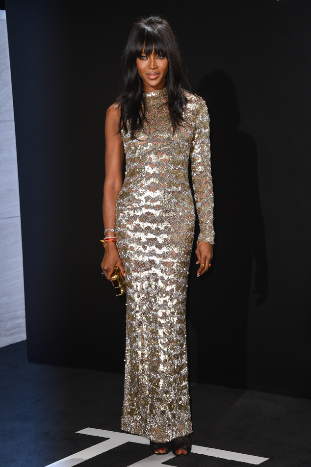 naomi-campbell-Tom- Ford AutumnWinter 2015 Womenswear- Presentation - Arrivals