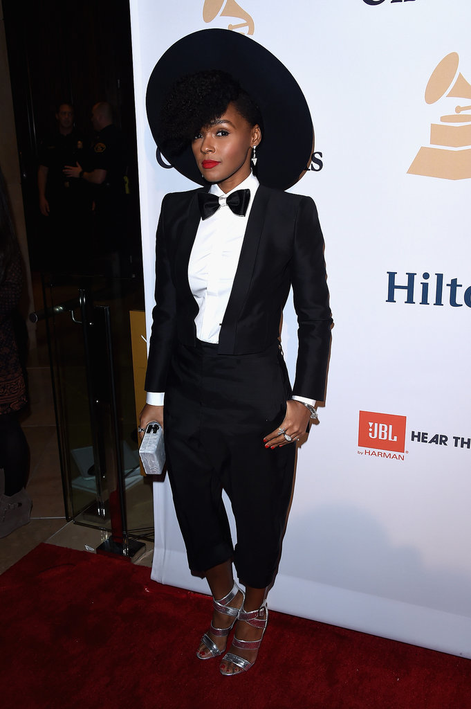 janelle-monae-Celebrities-Clive-Davis-Pre-Grammys-Party-2015-Photos