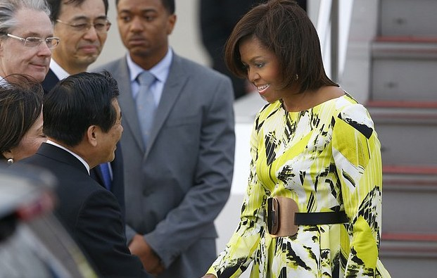 Michelle-Obama-in-Kenzo-visiting-Japan