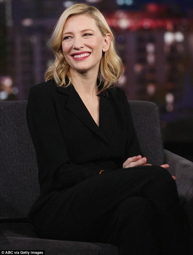 Cate-Blanchett-in-Yigal-Azrouel-Jimmy-Kimmel-Live'