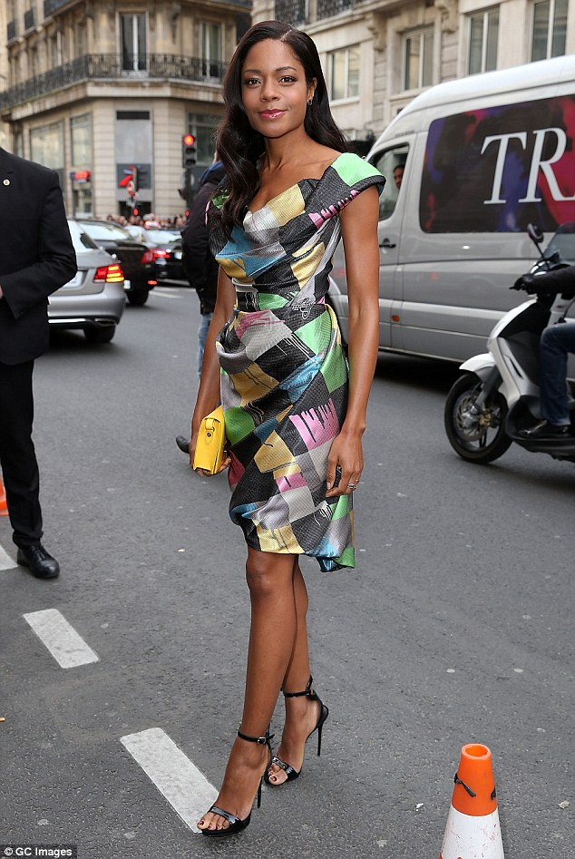 Naomie Harris poses prior to Vivienne Westwood Ready to Wear fall Show