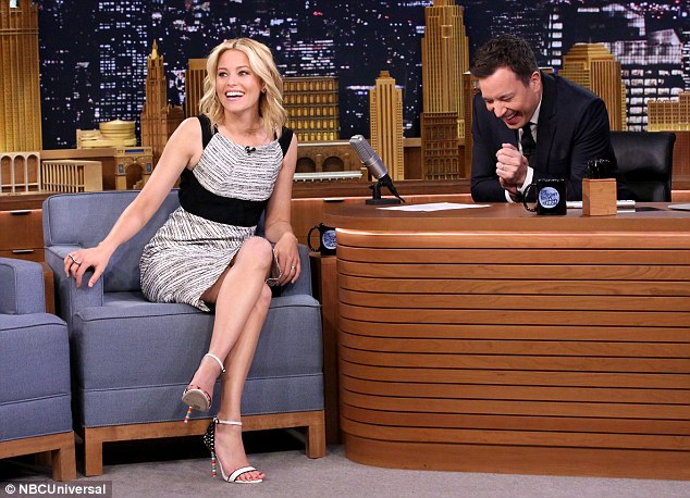 d Sophia Webster sandals. elizabeth-banks-in-roland-mouret-the-tonight-show-starring-jimmy-fallon
