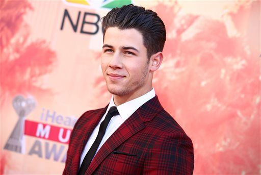 Nick Jonas in Valentino at the iHeartRadio Music Awards