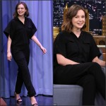 Carey Mulligan In IRO at The Tonight Show Starring Jimmy Fallon